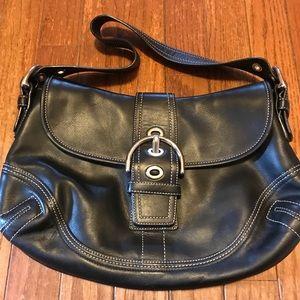 Authentic Coach all leather shoulder bag